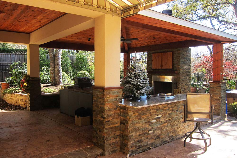 Covered Back Patio For Relaxing & Cooking - David Daigle, ASLA – Covered Back Patio For Relaxing & Cooking